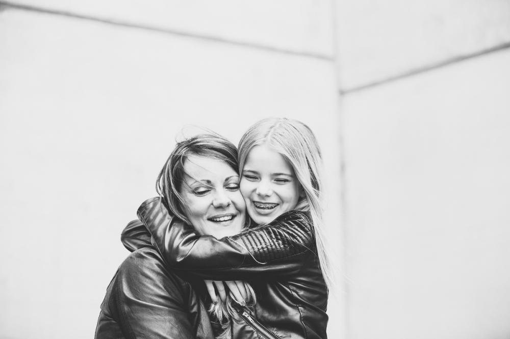 moeder en dochter portret