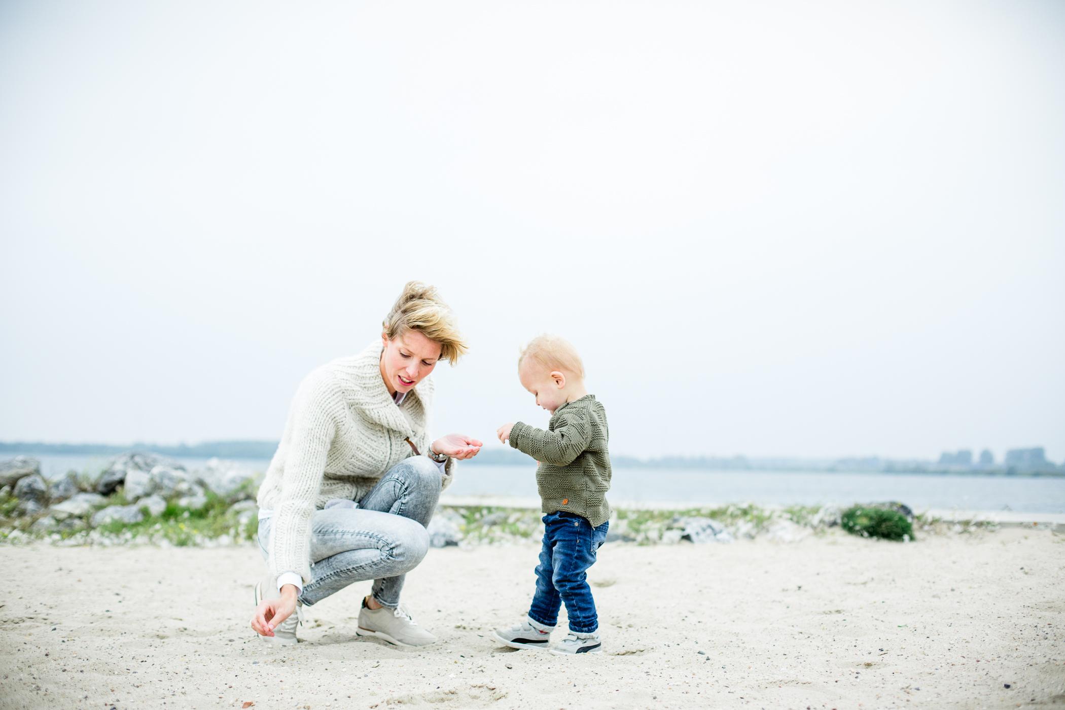 Fotoshoot portet op strand