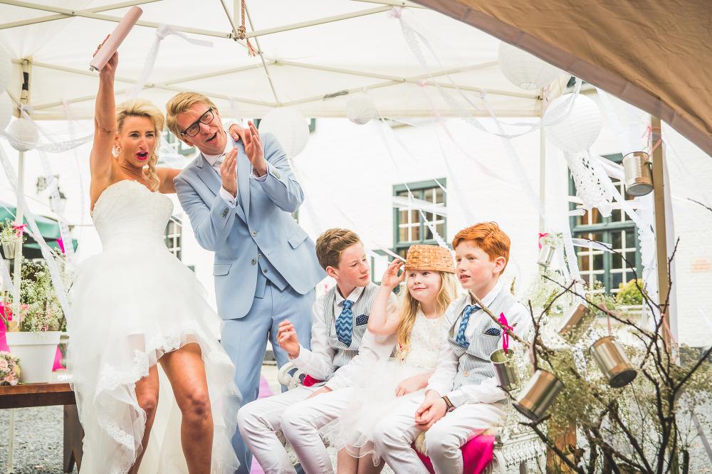 trouwen in tent