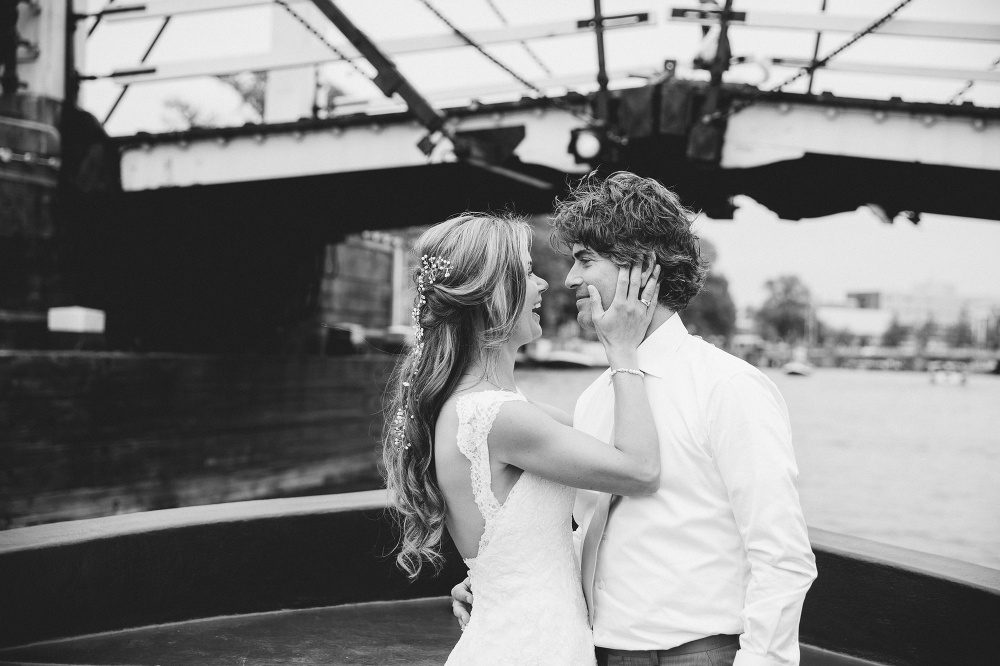 Bruiloft grachten Amsterdam