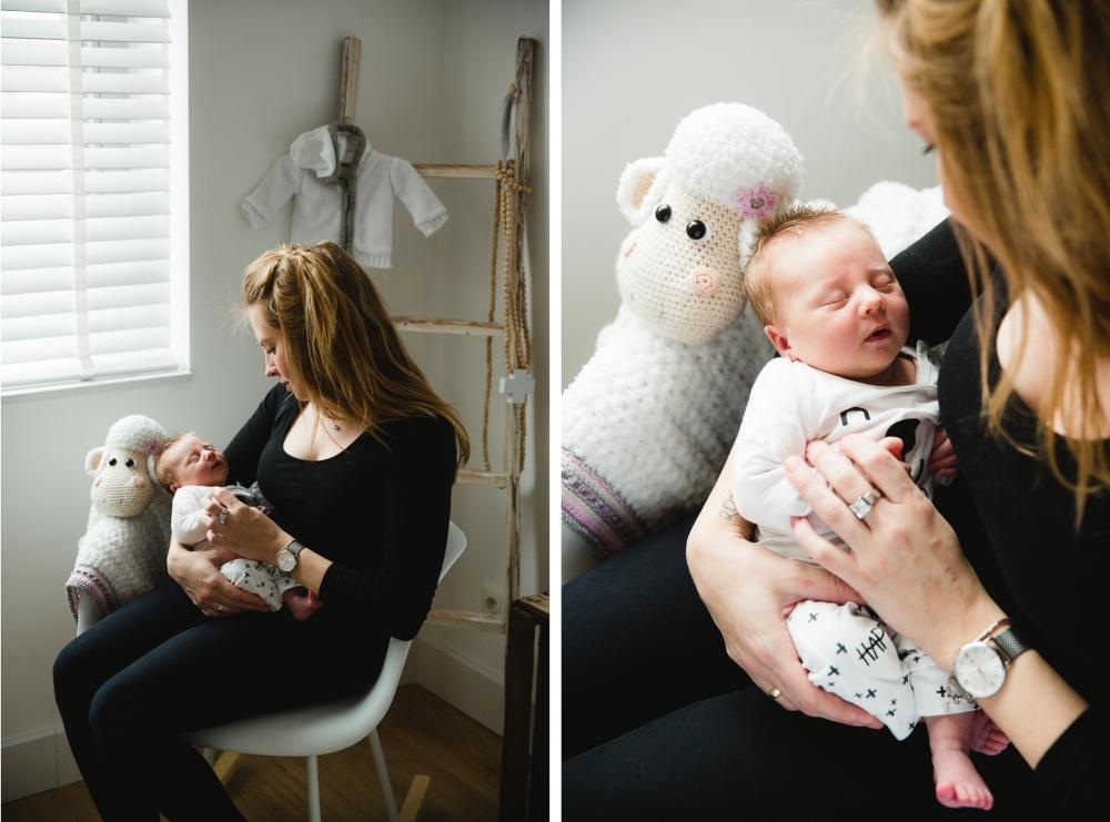 stoere pure newborn fotoshoot