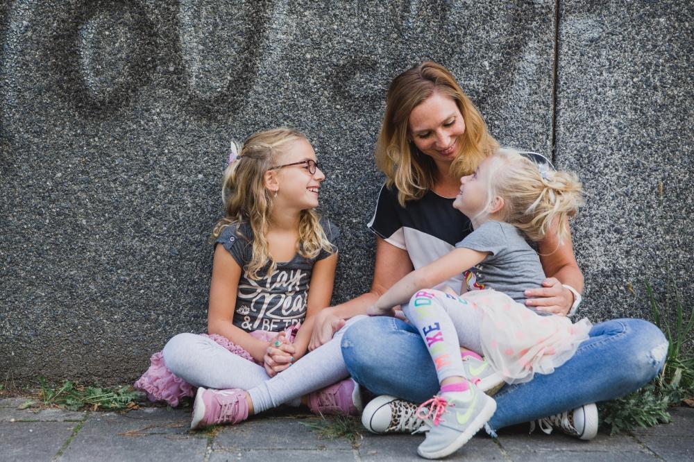 Stoere urban familie fotografie portret