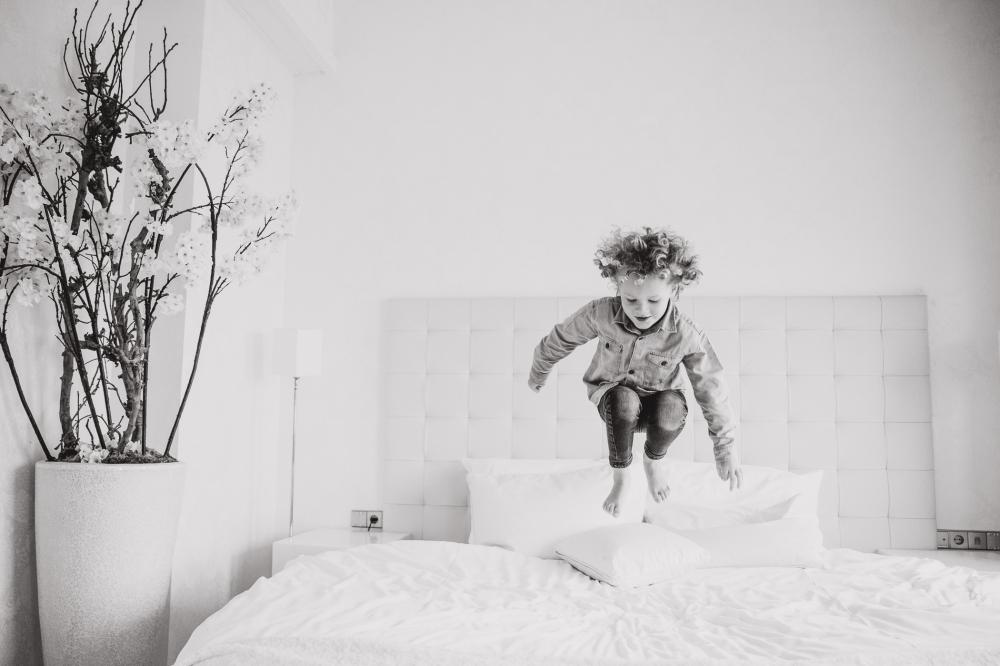 springen op bed