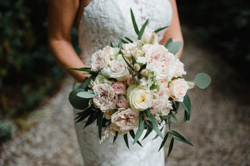 bruidsboeket roze rozen