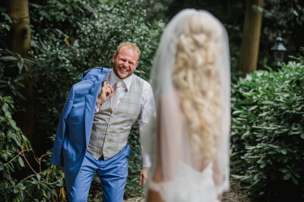 stoere trouwfoto