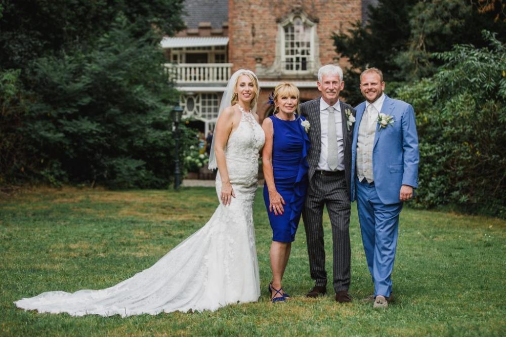 familie bruid groepsfoto